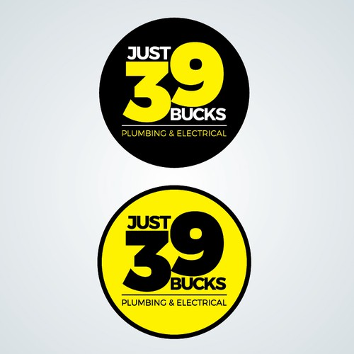 Price logo with the title 'Just 39 Bucks logo design'