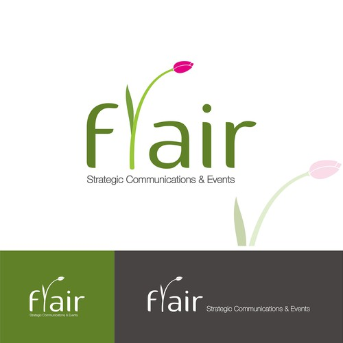 Promotion logo with the title 'Logo concept for FLAIR'