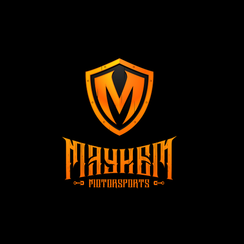 Motorcycle logo with the title 'Create the next logo for MAYHEM MOTORSPORTS'