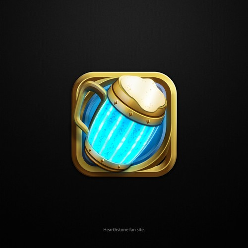 3D logo with the title 'Hearthstone fun site Logo'