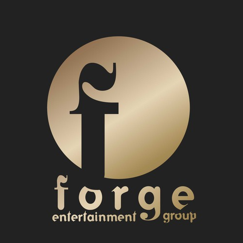 Record label logo with the title 'Forge entertainment group logo'
