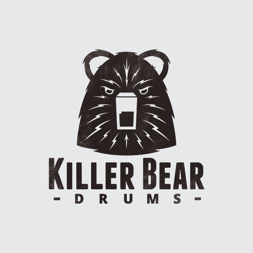 Beat logo with the title 'Logo for Killer Bear Drums'