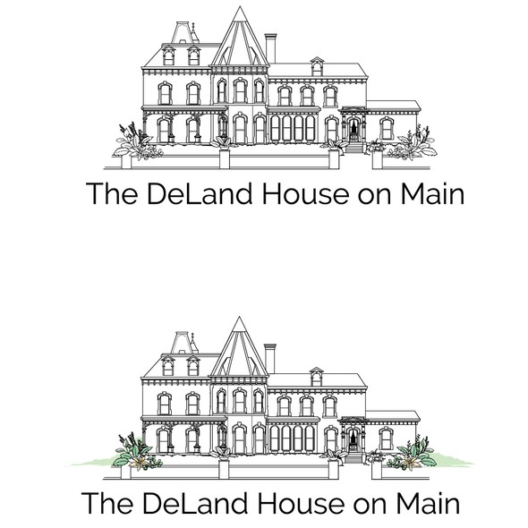 Venue logo with the title 'The DeLand House of Main'