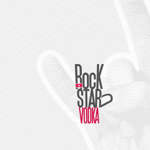 Vodka logo with the title 'New logo wanted for Rockstar Vodka'