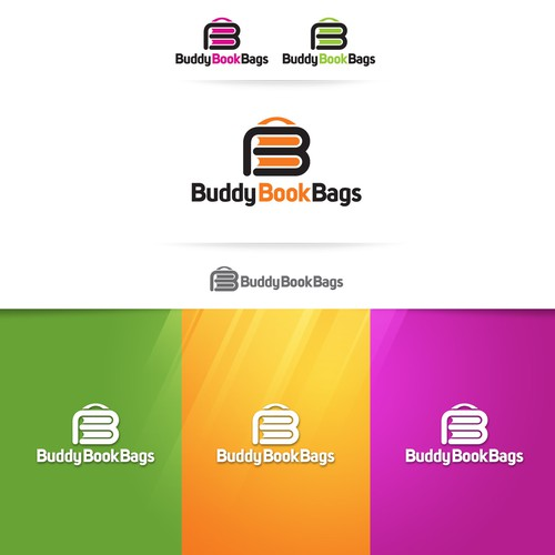 B design with the title 'Buddy Book Bags'