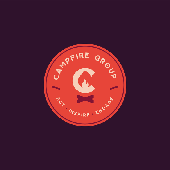 Fire pit logo with the title 'Campfire Group'