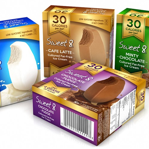 Premium packaging with the title 'Eye-catching for premium ice cream box design'