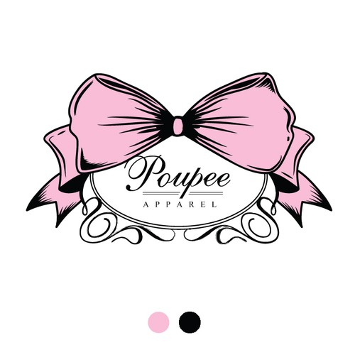 Ribbon logo with the title 'Fancy Women's Apparel logo'