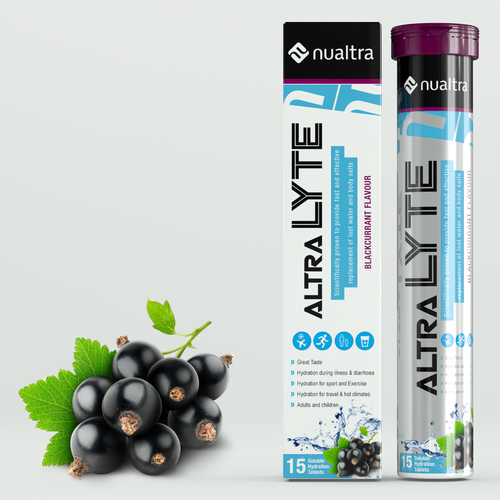 Tube packaging with the title 'Hydration shot tube concept'