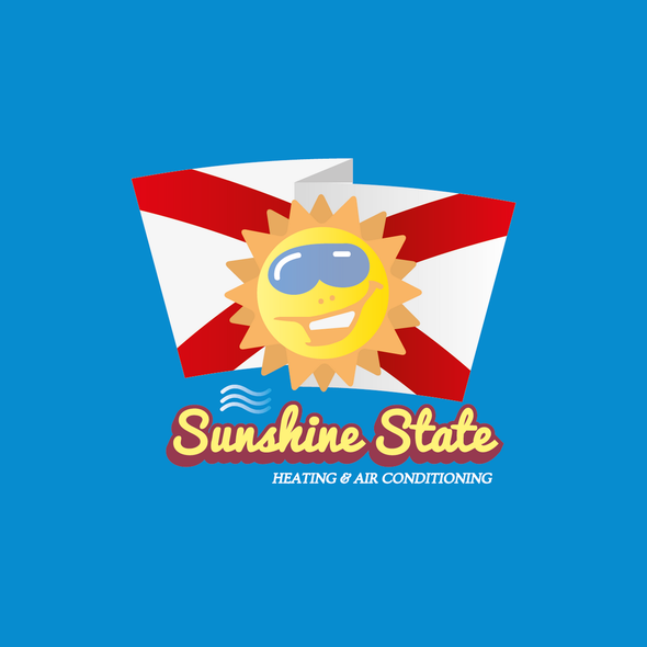 White and yellow logo with the title 'Sunshine State Heating & Air Conditioning'