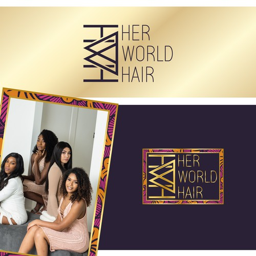 Girl brand with the title 'Her World Hair'