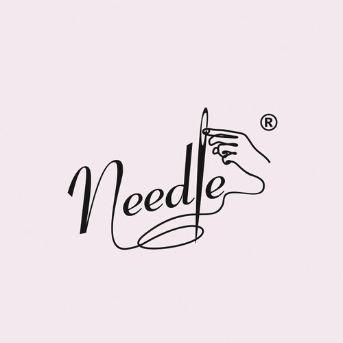 Tailor logo with the title 'Logo Concept for Needle Ladies Tailor'