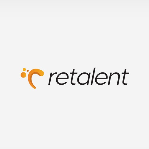 Human resources logo with the title 'Fluid Logo for Retalent'