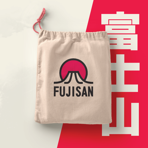 Asian design with the title 'FUJISAN'