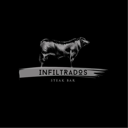 Steak logo with the title 'Infiltrados - Steak Bar'
