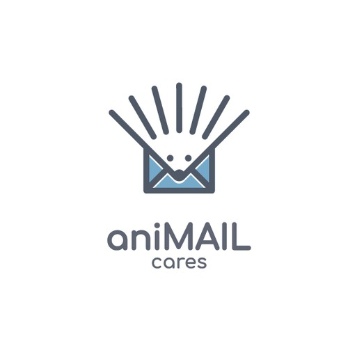 Mail logo with the title 'aniMAIL cares'