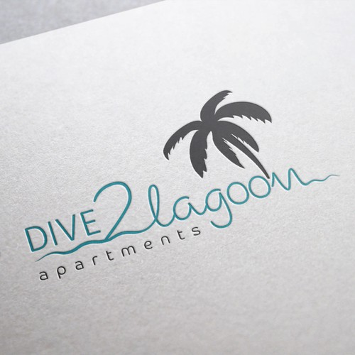 Scuba logo with the title 'Logo for apartments'