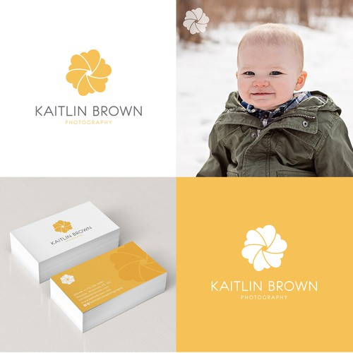 Headshot logo with the title 'Kaitlin Brown Photography'