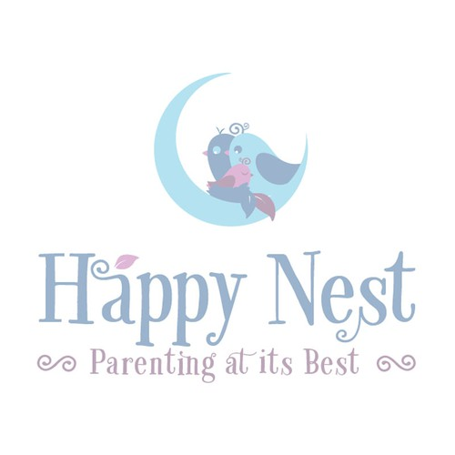 Nest logo with the title 'Create a beautiful illustration for Happy Nest!'