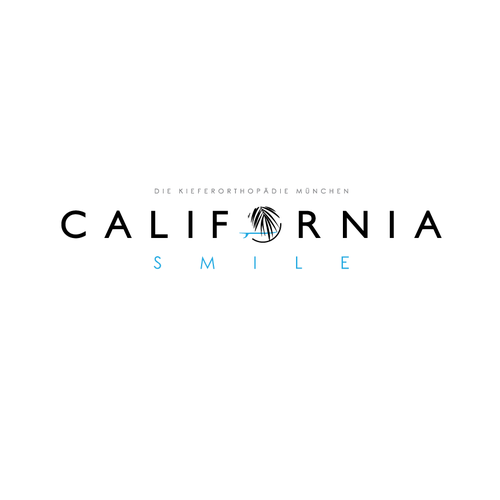 Longboard logo with the title 'Logo for California smile'