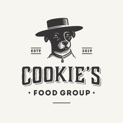 Mexican logo with the title 'Cookie's Food Group'