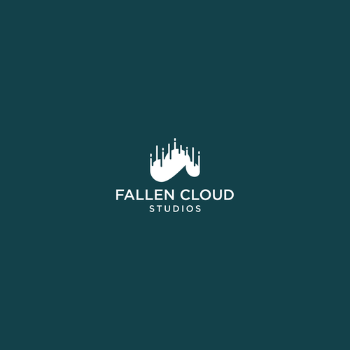 Paper plane logo with the title 'Logo design concept for Fallen Cloud Studios'