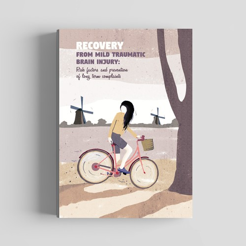 Bike illustration with the title 'Cover book illustration.'