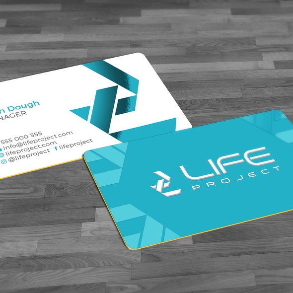 Recreation design with the title 'Business card'
