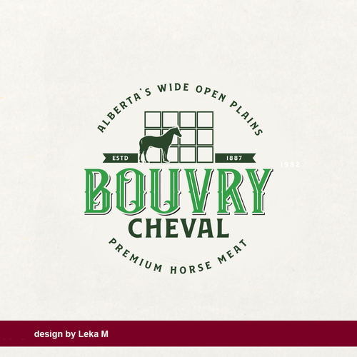 Meat logo with the title 'Bouvry Cheval'