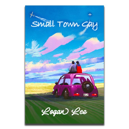 Gay design with the title 'Small Town Gay cover'