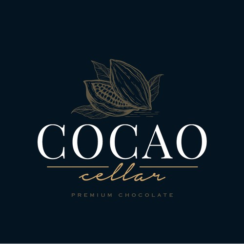 Chocolate logo with the title 'Logo Design for Cocao Cellar'