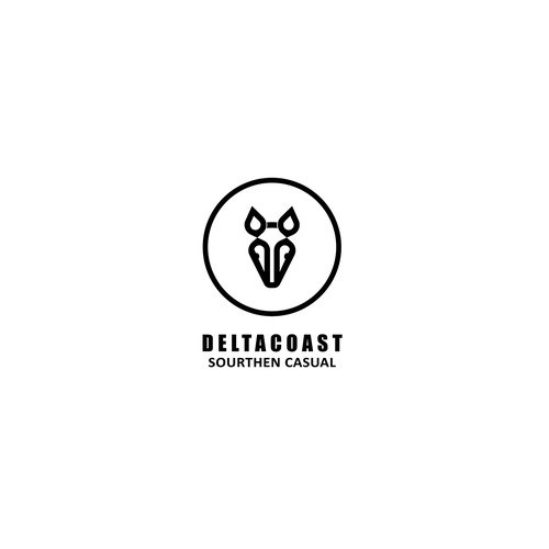 Armadillo logo with the title 'Deltacoast logo'