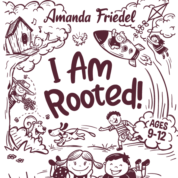 Happy book cover with the title 'I Am Rooted book cover artwork'