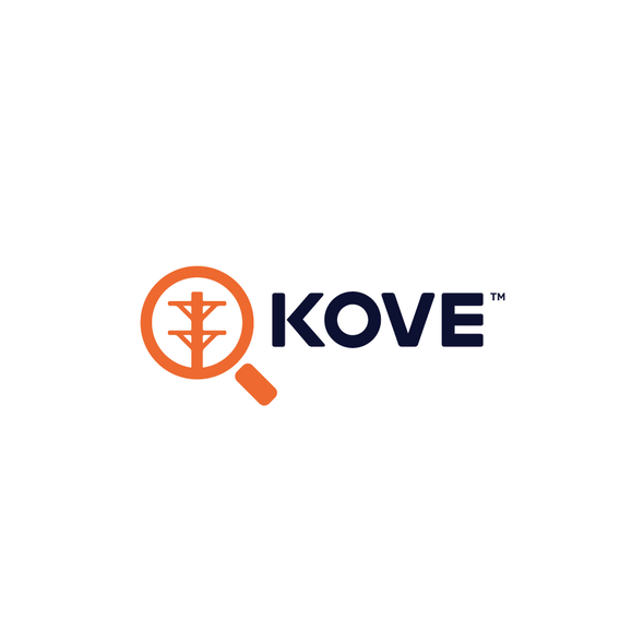 Utility logo with the title 'KOVE'