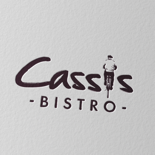 Bistro logo with the title 'logo design for cassis bistro'
