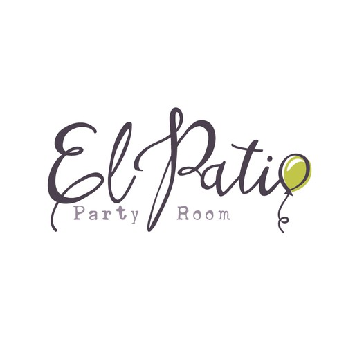 Balloon design with the title 'Event party room logo'
