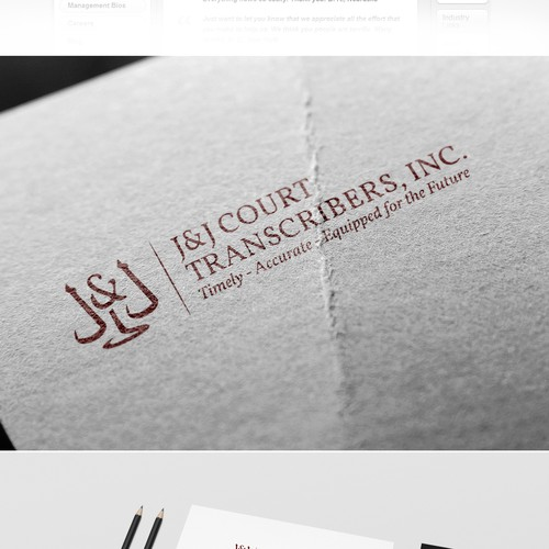 Court design with the title 'Freshen J&J's logo'