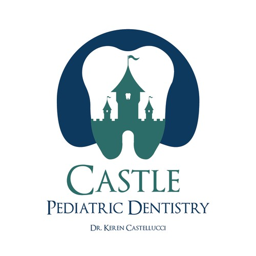 Dental logo with the title 'Castle Pediatric Dentistry Design'