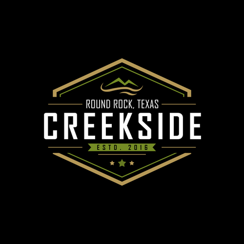 Cuisine design with the title 'Creekside Vintage Logo Design'