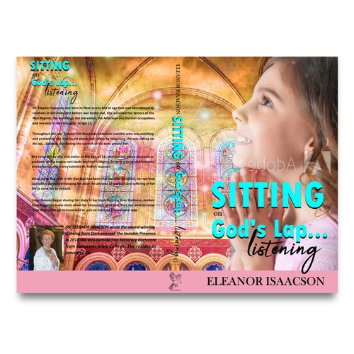 Church book cover with the title 'Sitting on God Lap…'