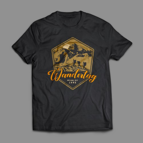 Hiking t-shirt with the title 'Wandertag (Hiking Day) T-Shirt'