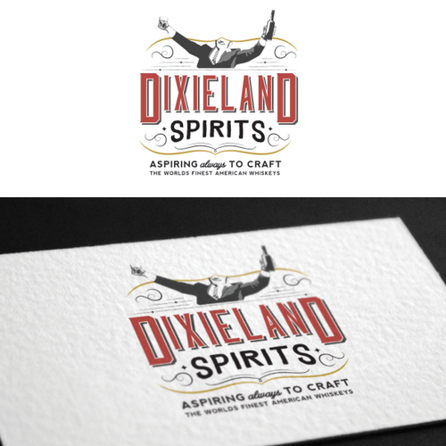 Authentic logo with the title 'Create a winning logo for America's best craft distillery'