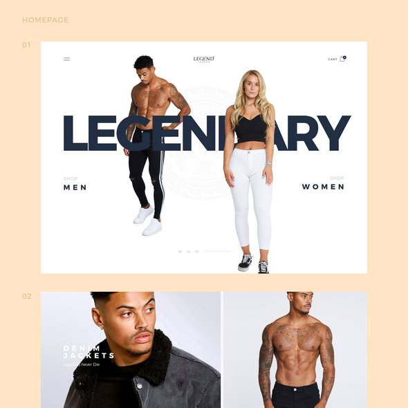 Jeans design with the title 'Legend London'