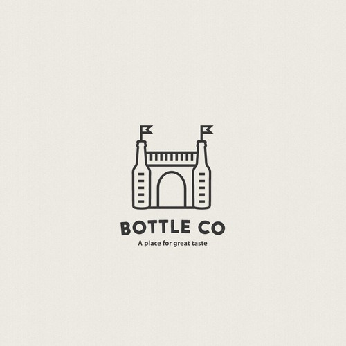 Castle design with the title 'Logo for beer store'
