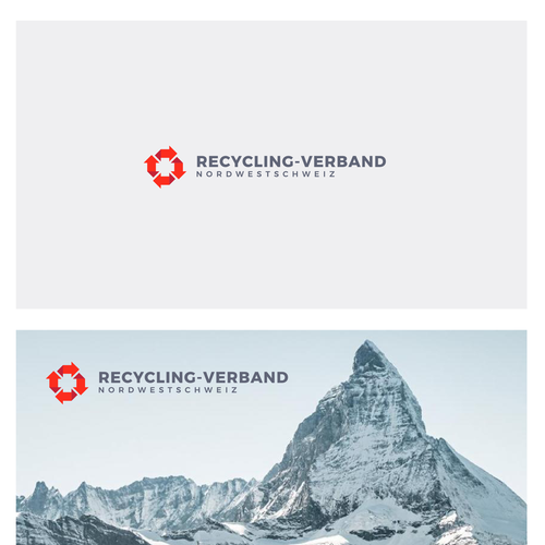 Swiss logo with the title 'Recycle and cross Swiss logo'