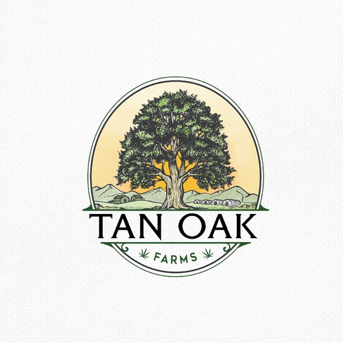 Illustration brand with the title 'tan oak'