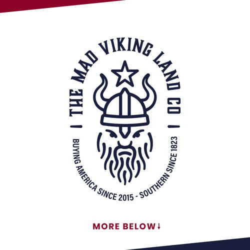 Viking brand with the title 'The Mad Viking - Logo'