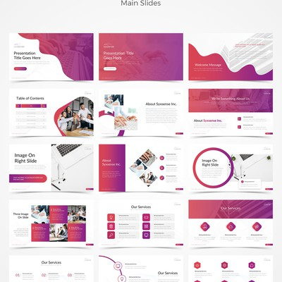 Syxsense Inc. Powerpoint Template Design