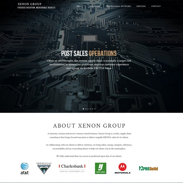 Network website with the title 'Xenon Group Needs a Stunning Web Design'