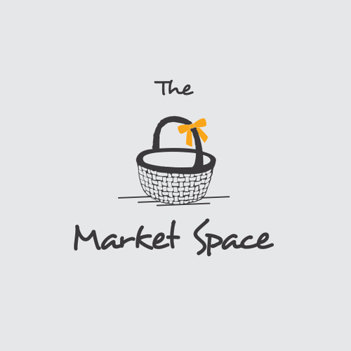 Online shop design with the title 'Market space'
